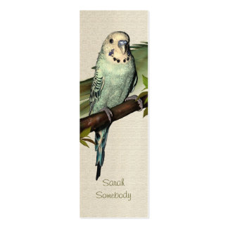 Blue Budgie Art Skinny Profile Card