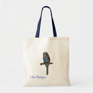 Blue Budgie Canvas Bags