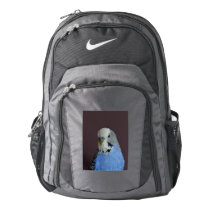 Blue Budgie Bird Animal Nike Backpack