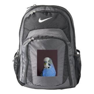 Blue Budgie Bird Animal Nike Backpack