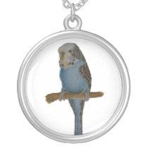 Blue Budgie Necklace
