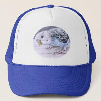 Blue Budgie Parakeet Bird Art Hat