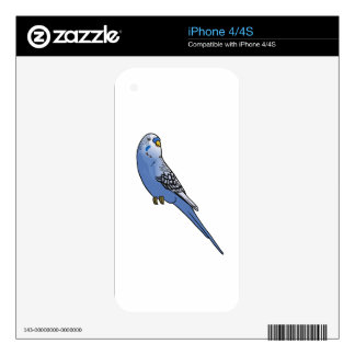 Blue Budgie iPhone 4 Decal