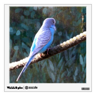 Blue Budgie Wall Stickers
