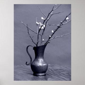 Blue Buds Vase Poster