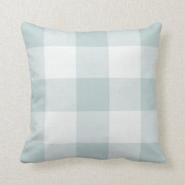 Blue Buffalo Check Farmhouse Throw Pillow