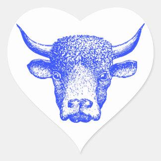 Blue Buffalo Heart Sticker