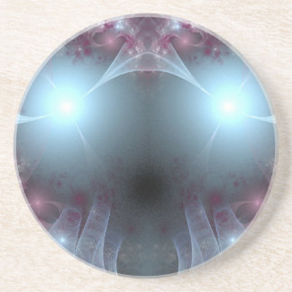 Blue Bug Eyes Abstract Drink Coaster