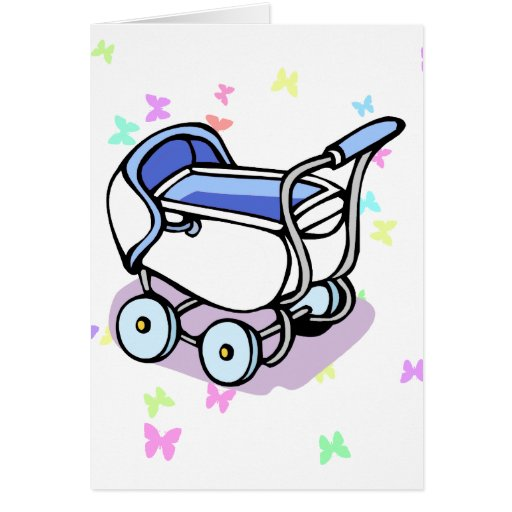 Blue Buggy Greeting Card