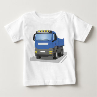 blue building sites truck baby T-Shirt