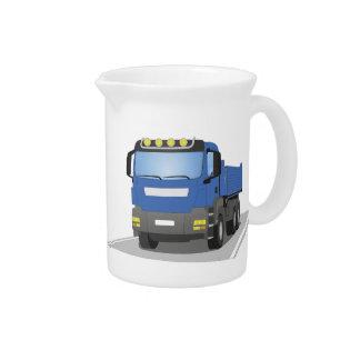 blue building sites truck pitcher