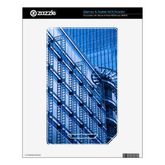 Blue Building Skin For The NOOK Color
