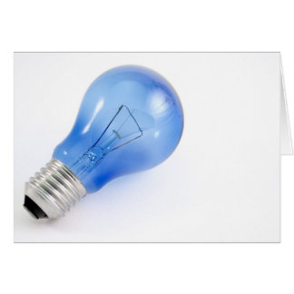 Blue bulb stationery note card