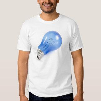 Blue bulb t shirts