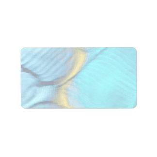 Blue bulges label