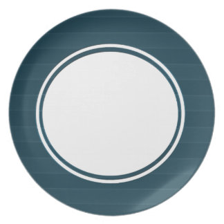 Blue Bulky Striped Party Plate