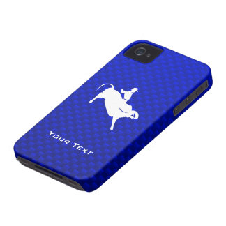 Blue Bull Rider iPhone 4 Case-Mate Case