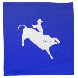 Blue Bull Rider Napkin