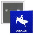 Blue Bull Rider Pins