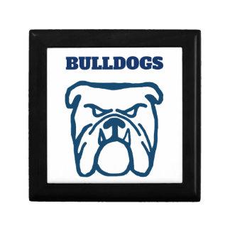 Blue Bulldog Keepsake Box