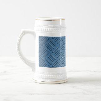 Blue Bumped Metal Textured Beer Stein