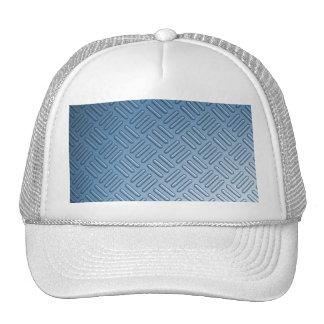 Blue Bumped Metal Textured Trucker Hat