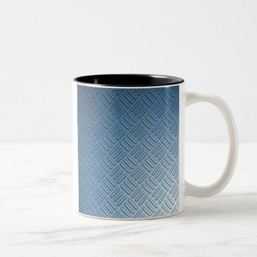 Blue Bumped Metal Textured Mugs