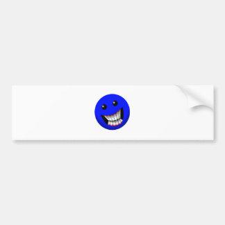 Blue Car Bumper Sticker