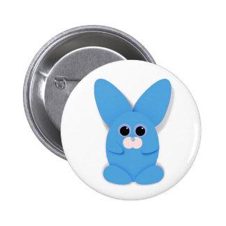 Blue Bunn Button