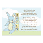 Blue Bunny Baby Shower Book Insert Request Card Large Business Cards (Pack Of 100)