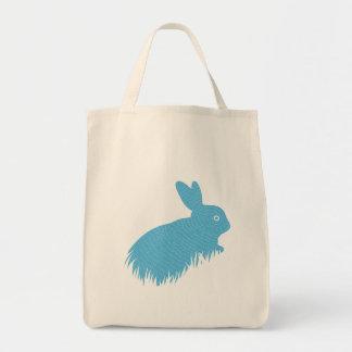 Blue Bunny Canvas Bag