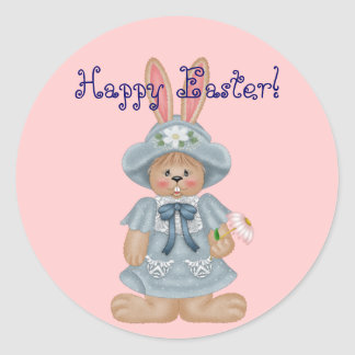 Blue Bunny - Happy Easter Stickers