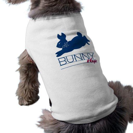 Blue Bunny Hop Doggie Tee