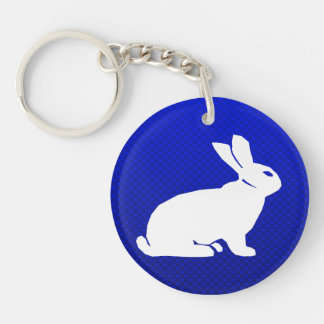 Blue Bunny Acrylic Keychain