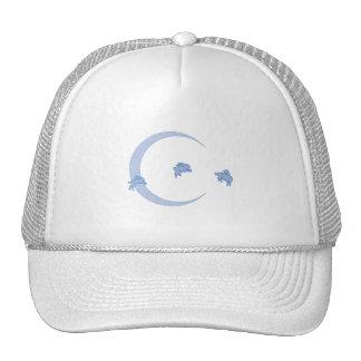 BLUE BUNNY MOON TRUCKER HAT