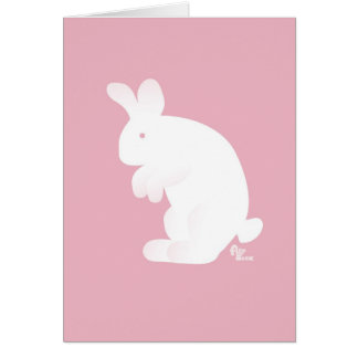 Blue Bunny New Baby Greeting Card
