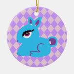 Blue Bunny Ornament