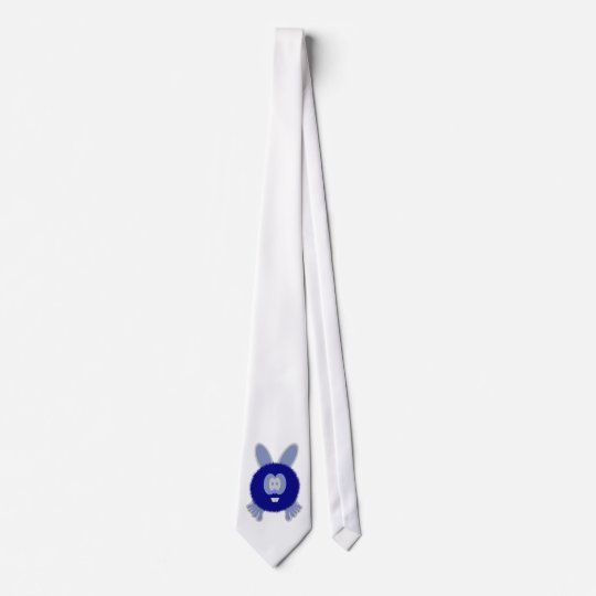 Blue Bunny Pom Pom Pal Tie