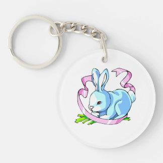 blue bunny purple ribbon.png keychain
