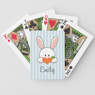Blue Bunny Rabbit Bicycle® Playing Cards