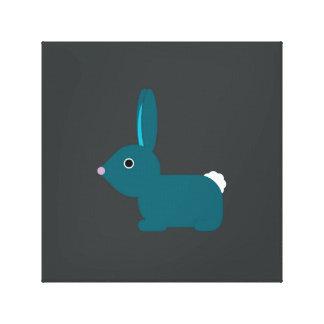 Blue Bunny Rabbit Canvas Print