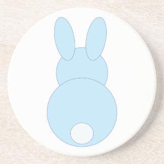 Blue Bunny Rabbit Sandstone Coaster