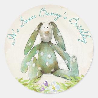 Blue Bunny Rabbit Sticker