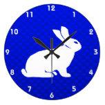 Blue Bunny Round Clock