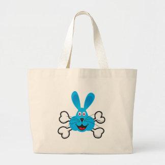 blue bunny Skull and Crossbones Canvas Bag