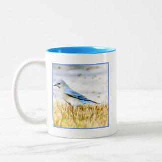 Blue Bunting Bird Mug