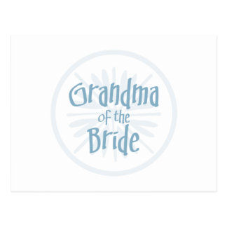 Blue Burst Grandma of the Bride Postcard