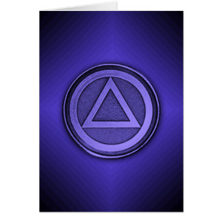 Blue Burst Sober Sobriety Recovery AA Card
