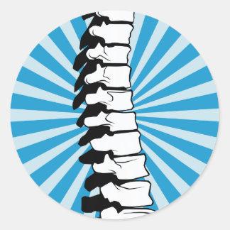 Blue Burst Spine Stickers