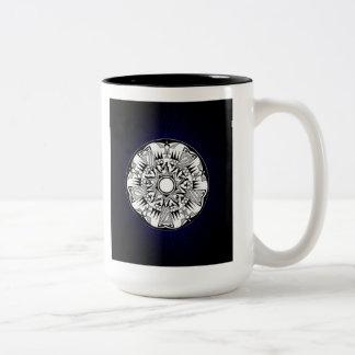 'Blue Burst' Two-Tone Coffee Mug